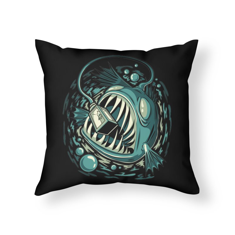 Lantern Fish Home Throw Pillow by Stephen Hartman Illustration Shop