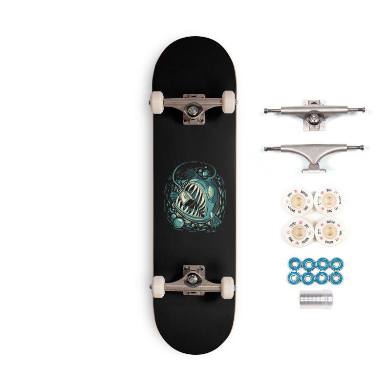 Lantern Fish Accessories Complete - Premium Skateboard by Stephen Hartman Illustration Shop