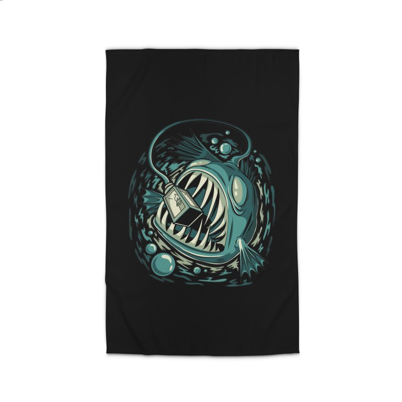 Lantern Fish Home Rug by Stephen Hartman Illustration Shop