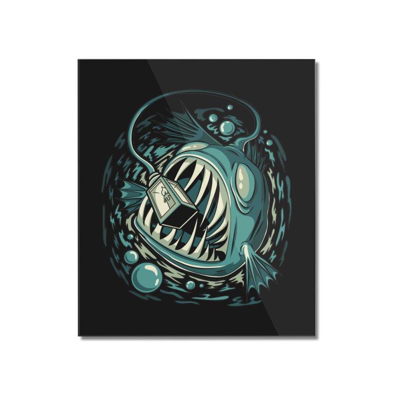 Lantern Fish Home Mounted Acrylic Print by Stephen Hartman Illustration Shop