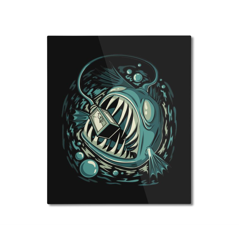 Lantern Fish Home Mounted Aluminum Print by Stephen Hartman Illustration Shop