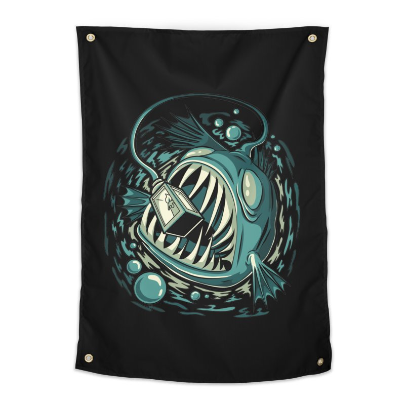 Lantern Fish Home Tapestry by Stephen Hartman Illustration Shop