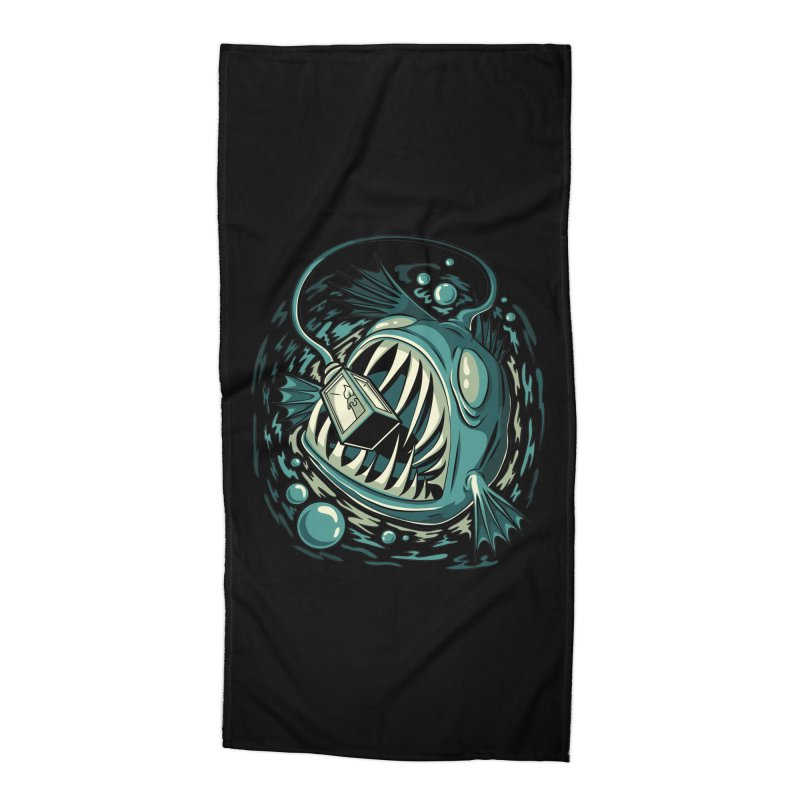 Lantern Fish Accessories Beach Towel by Stephen Hartman Illustration Shop