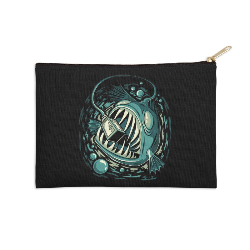 Lantern Fish Accessories Zip Pouch by Stephen Hartman Illustration Shop