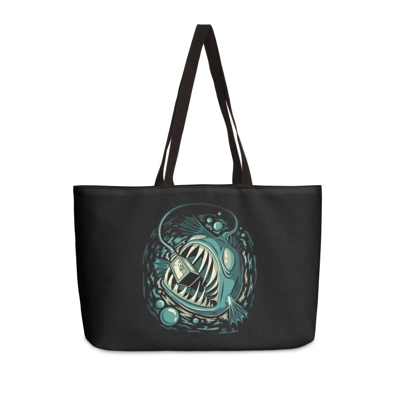 Lantern Fish Accessories Weekender Bag Bag by Stephen Hartman Illustration Shop