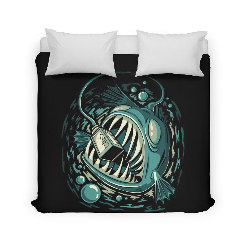 Lantern Fish Home Duvet by Stephen Hartman Illustration Shop