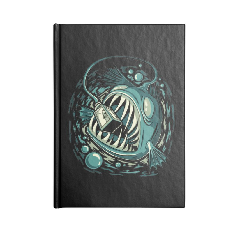 Lantern Fish Accessories Lined Journal Notebook by Stephen Hartman Illustration Shop