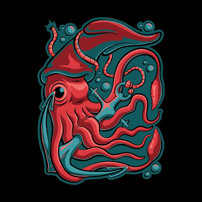 Squid by Stephen Hartman Illustration Shop