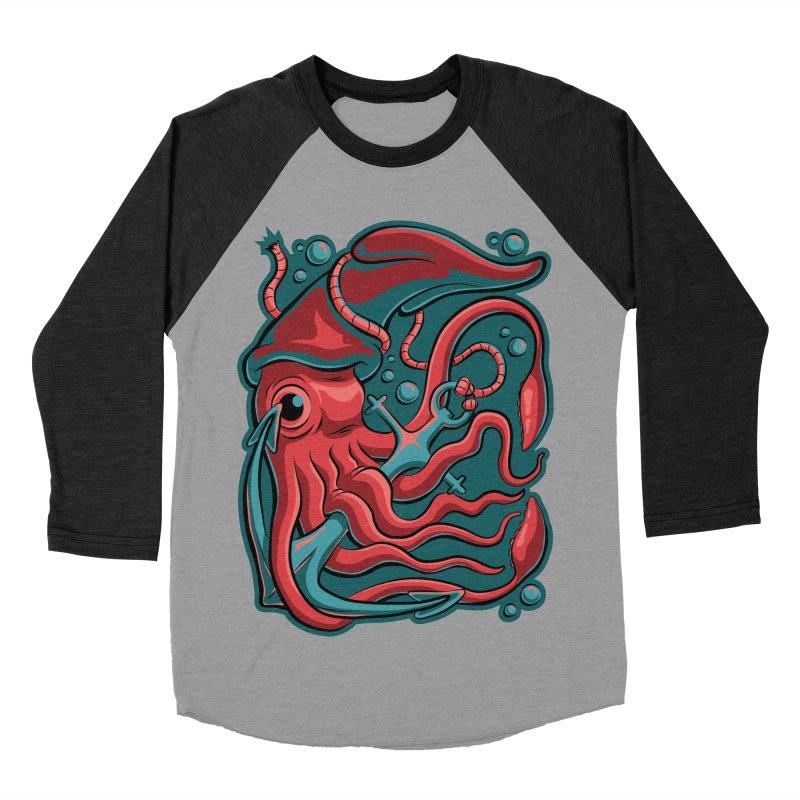Squid Women's Baseball Triblend Longsleeve T-Shirt by Stephen Hartman Illustration Shop