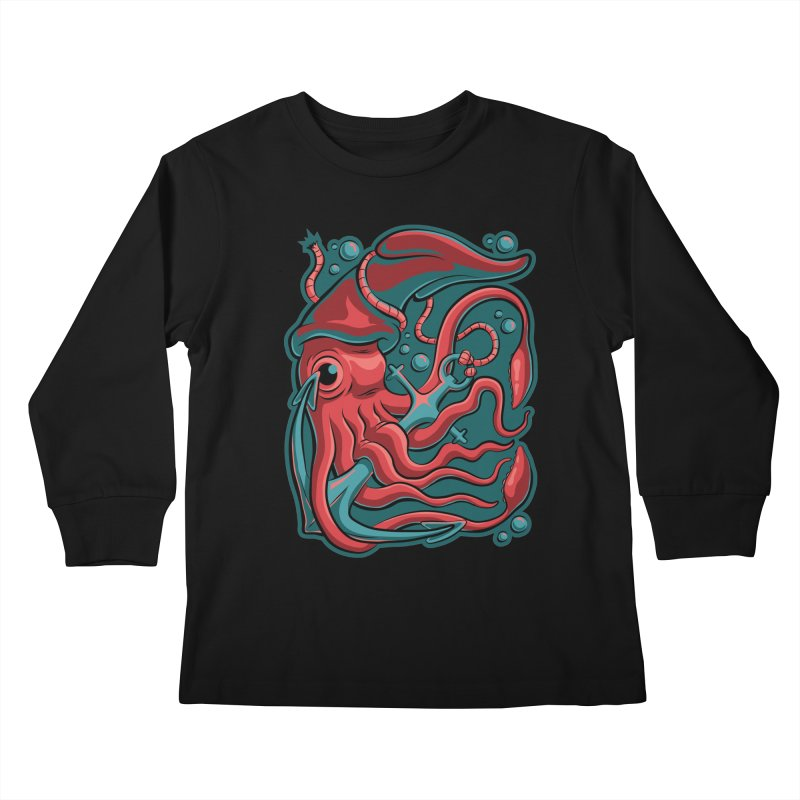Squid Kids Longsleeve T-Shirt by Stephen Hartman Illustration Shop