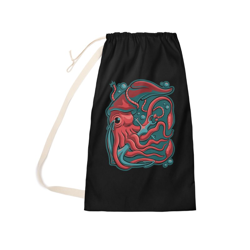 Squid Accessories Laundry Bag Bag by Stephen Hartman Illustration Shop