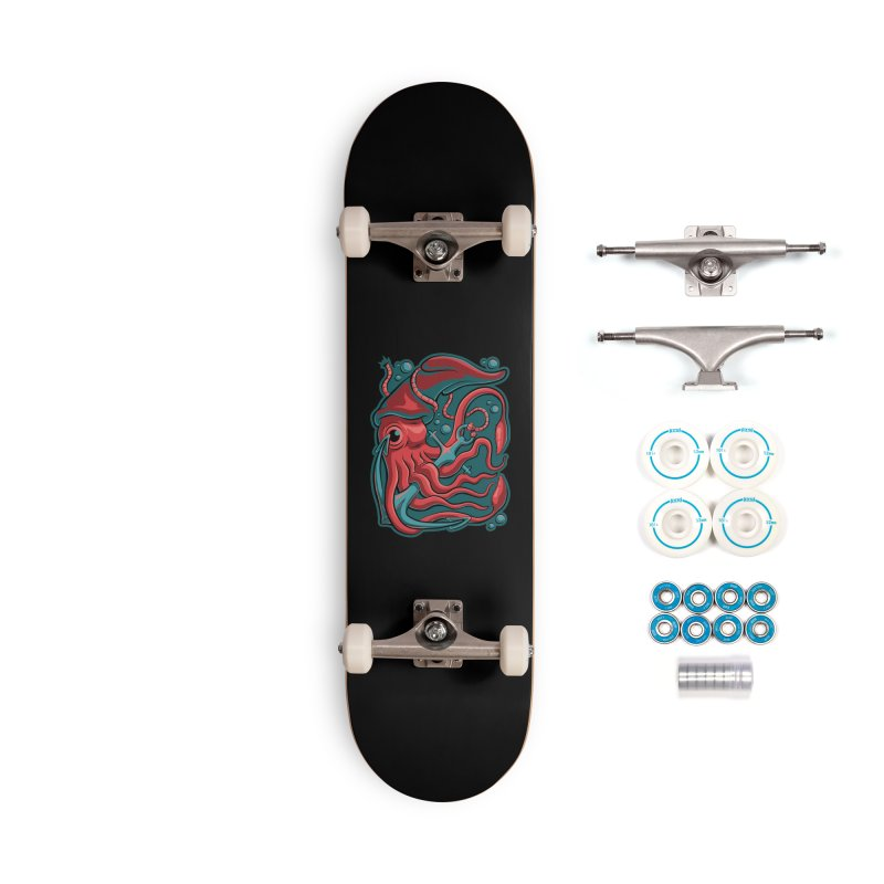 Squid Accessories Skateboard by Stephen Hartman Illustration Shop