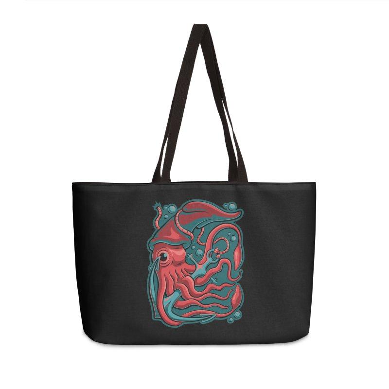 Squid Accessories Weekender Bag Bag by Stephen Hartman Illustration Shop