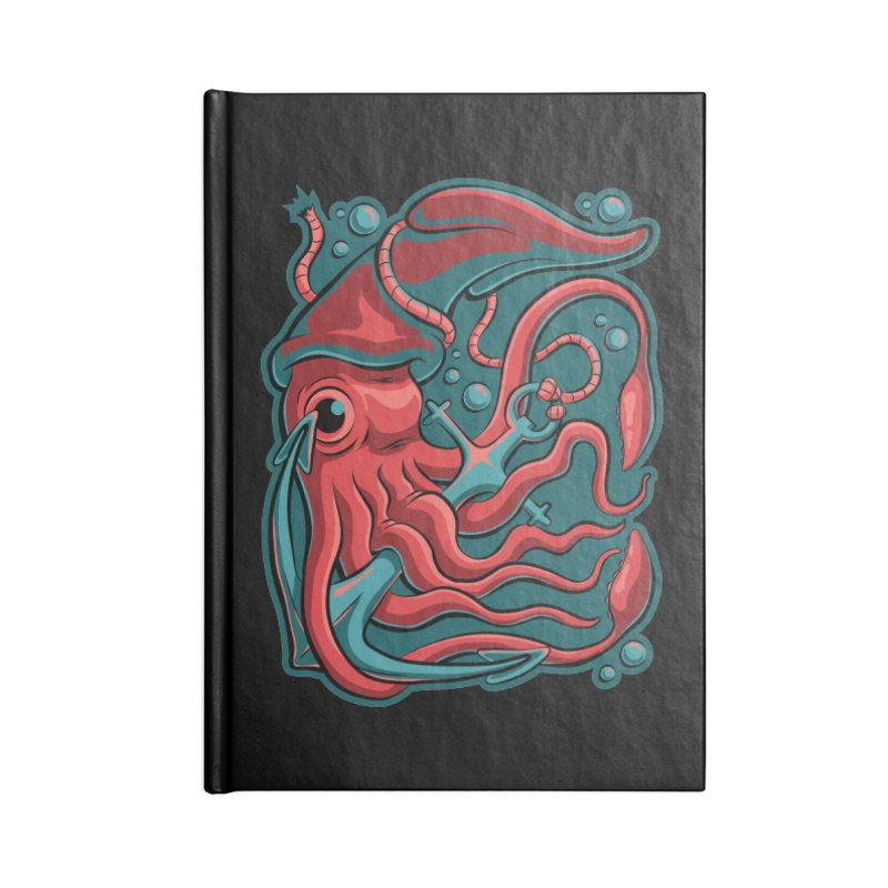 Squid Accessories Lined Journal Notebook by Stephen Hartman Illustration Shop