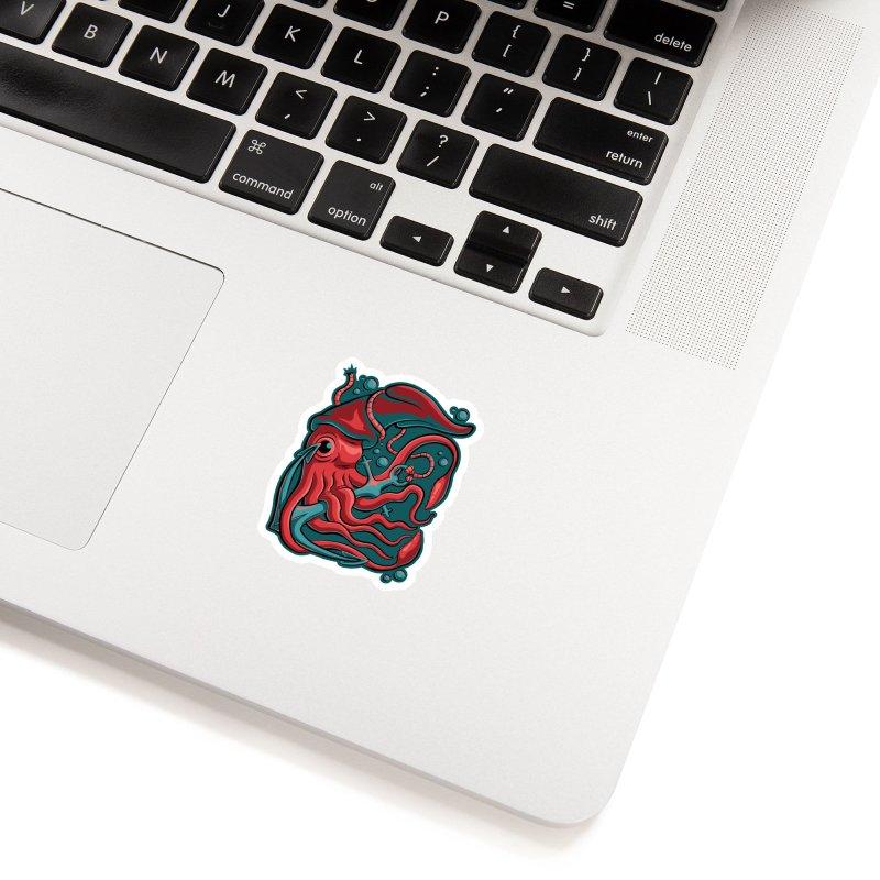 Squid Accessories Sticker by Stephen Hartman Illustration Shop