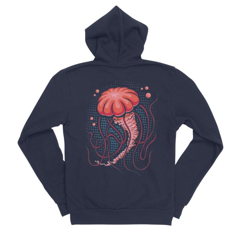 Jellyfish Women's Sponge Fleece Zip-Up Hoody by Stephen Hartman Illustration Shop