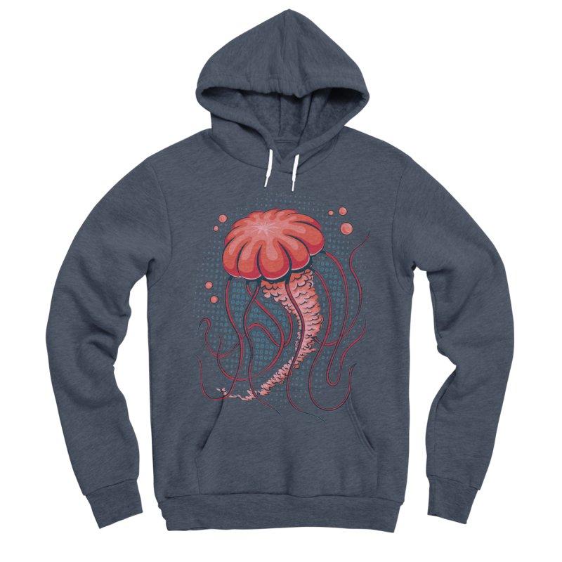 Jellyfish Men's Sponge Fleece Pullover Hoody by Stephen Hartman Illustration Shop
