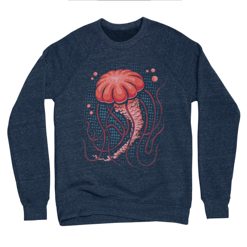 Jellyfish Women's Sponge Fleece Sweatshirt by Stephen Hartman Illustration Shop