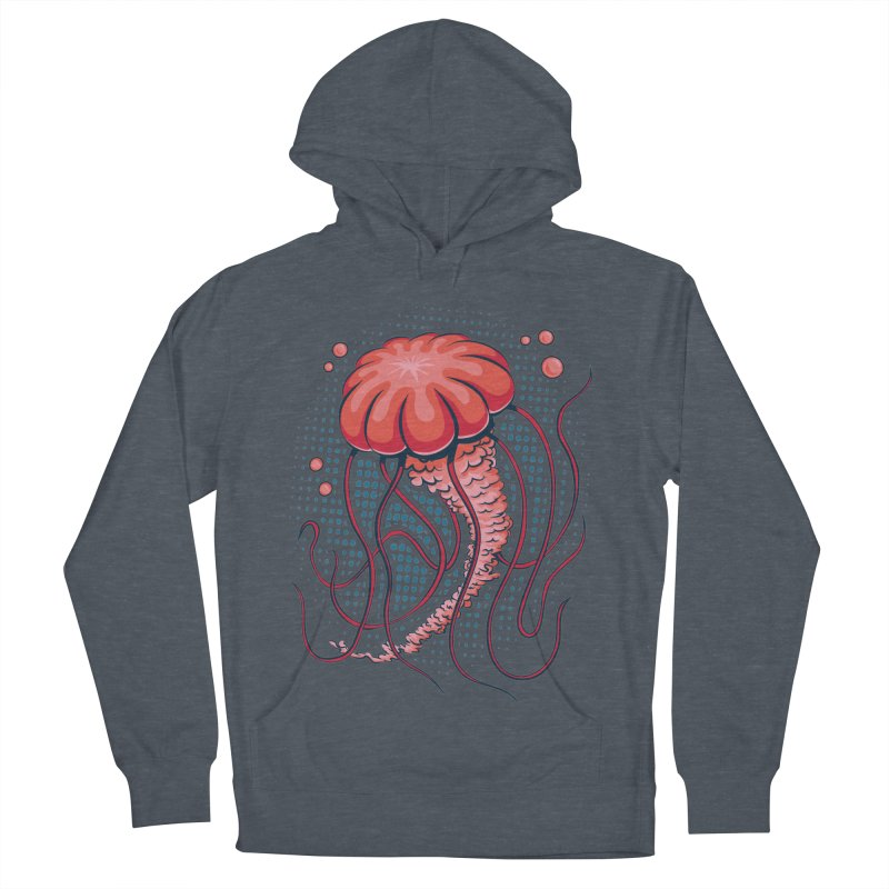 Jellyfish Men's French Terry Pullover Hoody by Stephen Hartman Illustration Shop