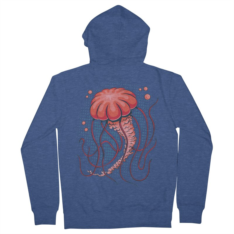 Jellyfish Women's French Terry Zip-Up Hoody by Stephen Hartman Illustration Shop