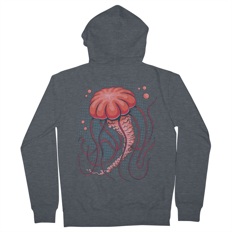 Jellyfish Men's French Terry Zip-Up Hoody by Stephen Hartman Illustration Shop
