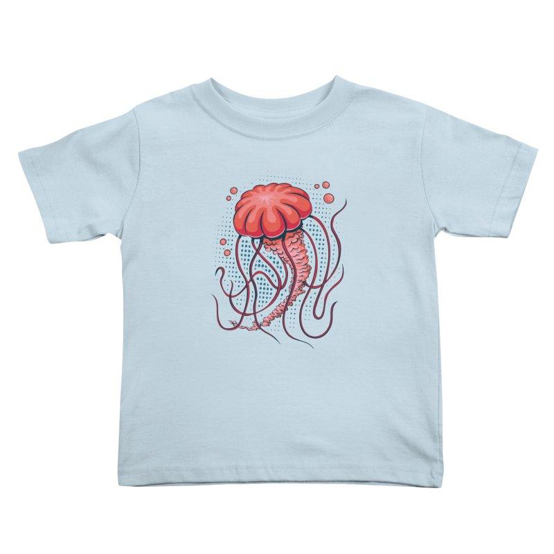 Jellyfish Kids Toddler T-Shirt by Stephen Hartman Illustration Shop