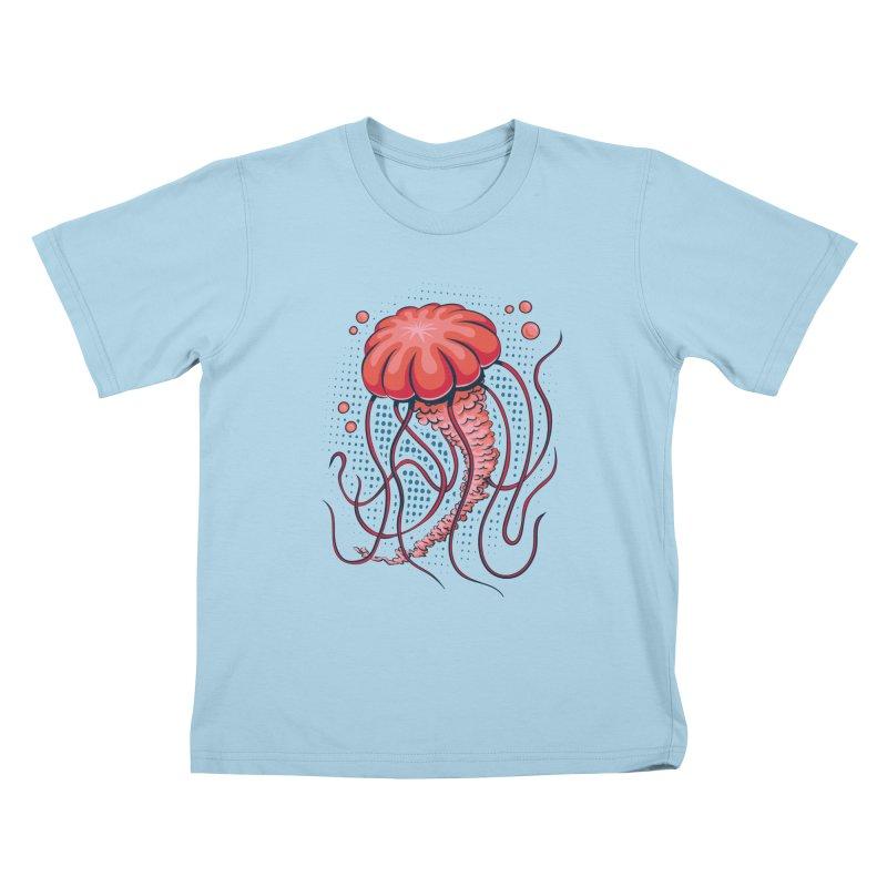 Jellyfish Kids T-Shirt by Stephen Hartman Illustration Shop