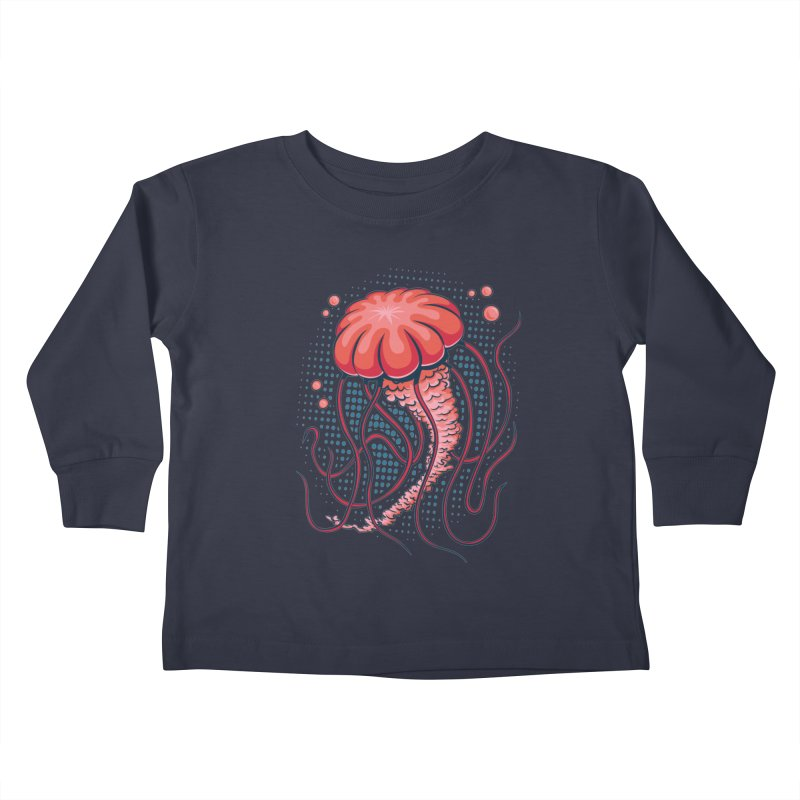 Jellyfish Kids Toddler Longsleeve T-Shirt by Stephen Hartman Illustration Shop