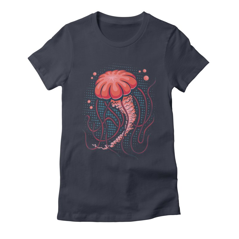 Jellyfish Women's Fitted T-Shirt by Stephen Hartman Illustration Shop
