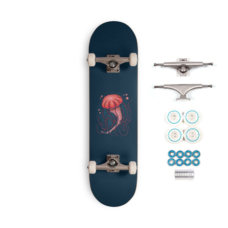 Jellyfish Accessories Complete - Basic Skateboard by Stephen Hartman Illustration Shop
