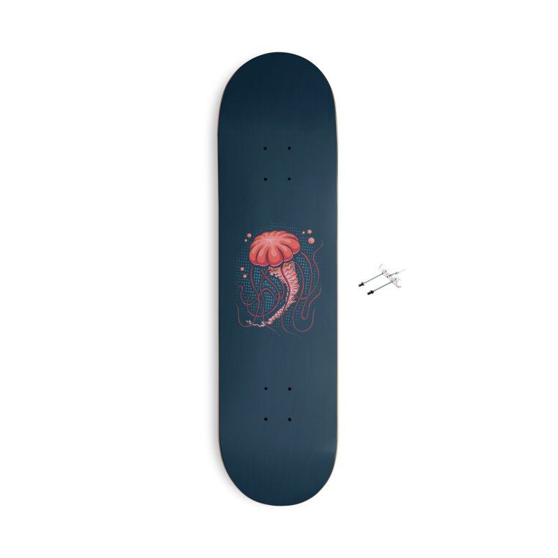 Jellyfish Accessories With Hanging Hardware Skateboard by Stephen Hartman Illustration Shop