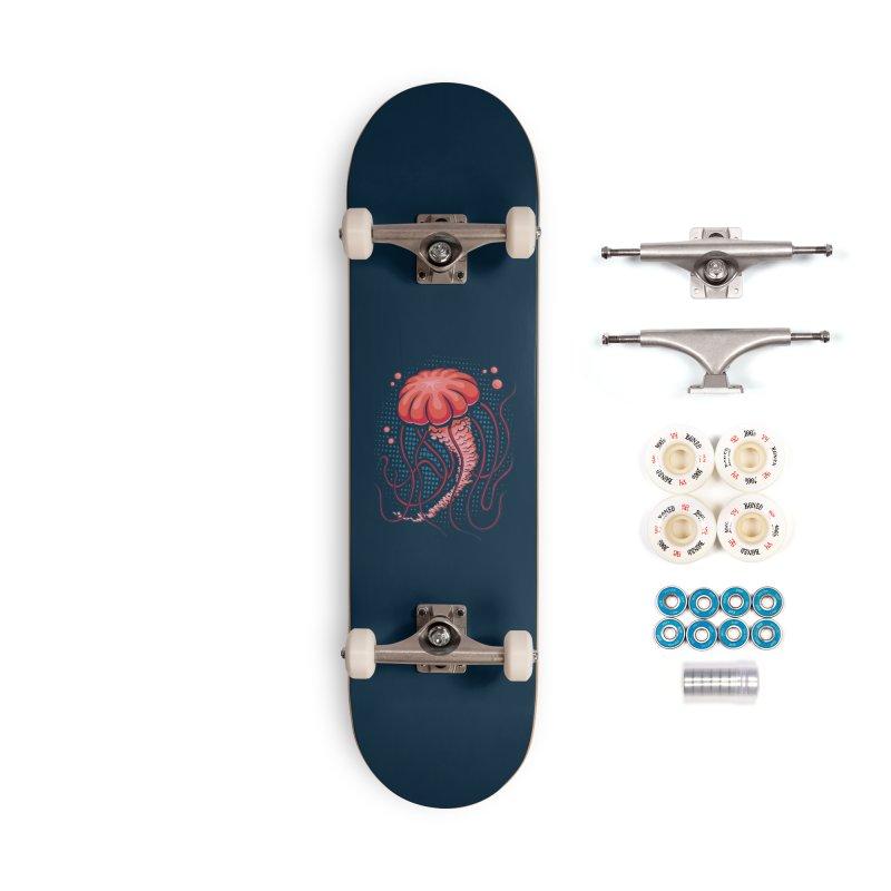 Jellyfish Accessories Complete - Premium Skateboard by Stephen Hartman Illustration Shop