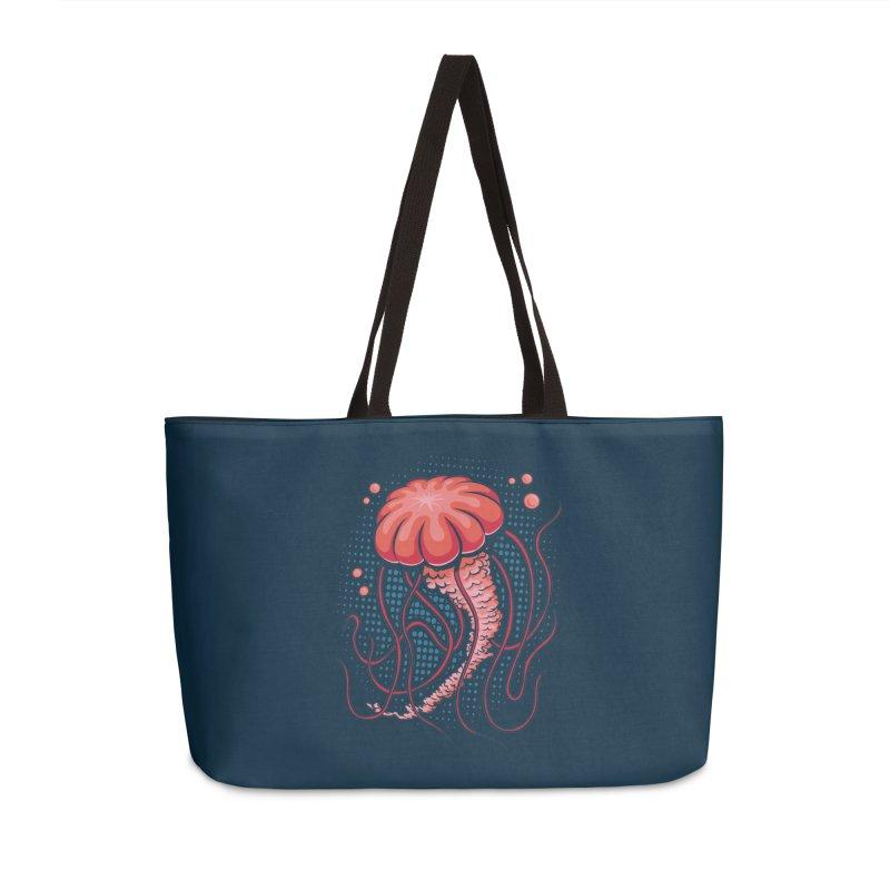 Jellyfish Accessories Weekender Bag Bag by Stephen Hartman Illustration Shop