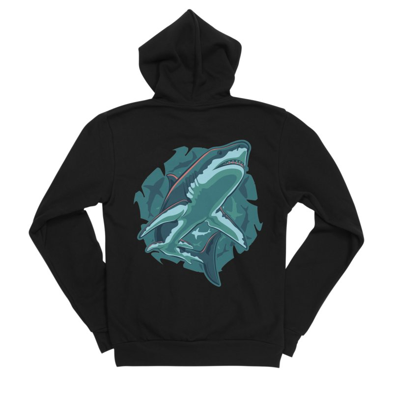 Top Predator Men's Sponge Fleece Zip-Up Hoody by Stephen Hartman Illustration Shop