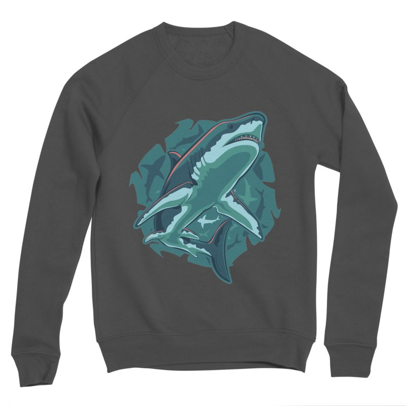 Top Predator Men's Sponge Fleece Sweatshirt by Stephen Hartman Illustration Shop