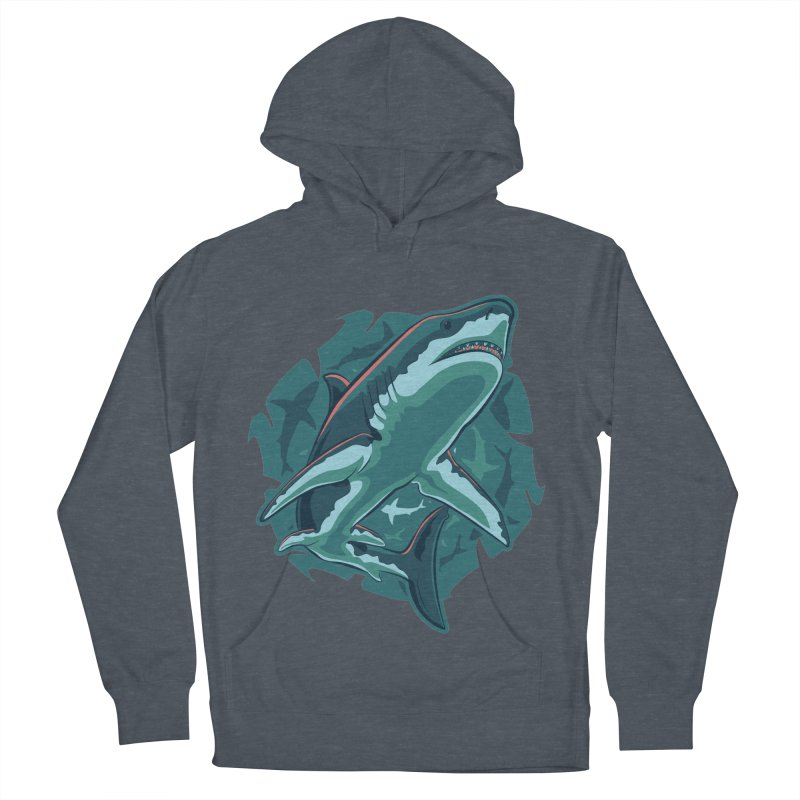 Top Predator Men's French Terry Pullover Hoody by Stephen Hartman Illustration Shop