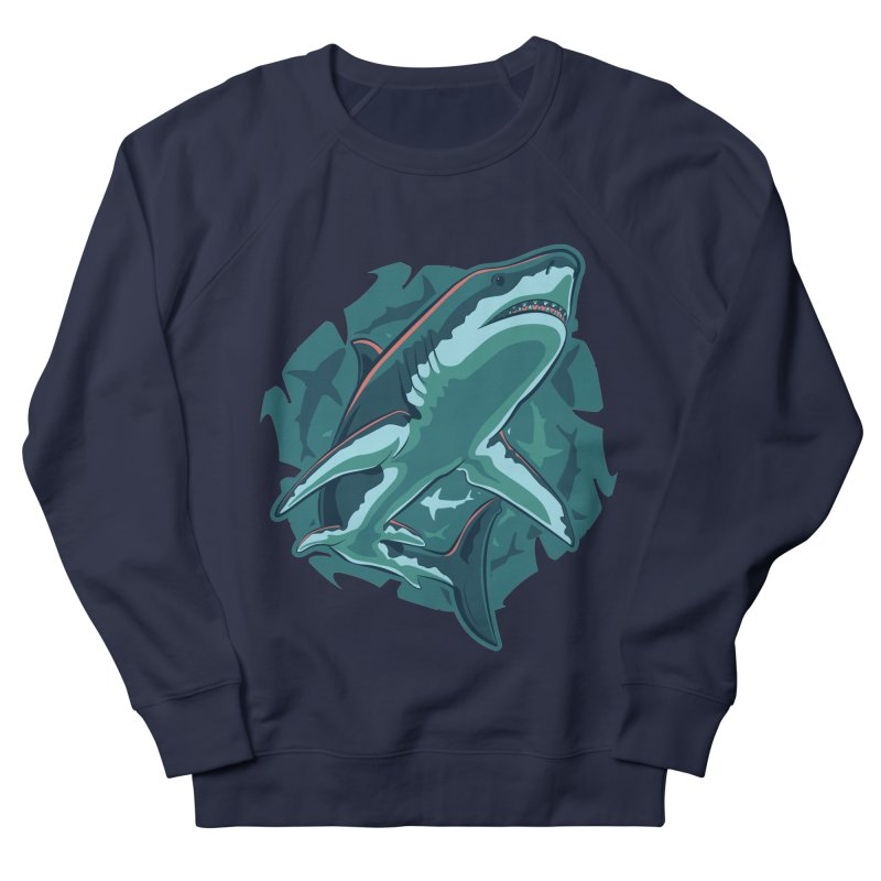 Top Predator Men's French Terry Sweatshirt by Stephen Hartman Illustration Shop