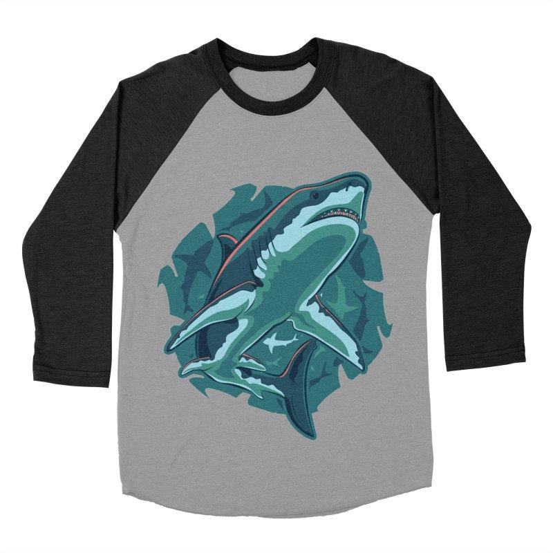 Top Predator Women's Baseball Triblend Longsleeve T-Shirt by Stephen Hartman Illustration Shop