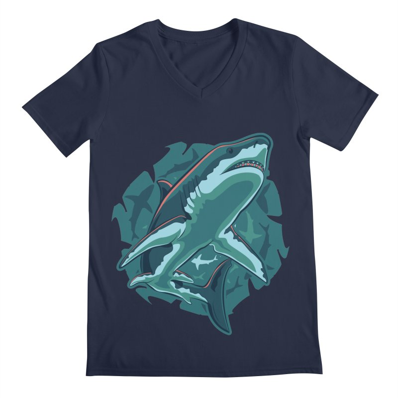Top Predator Men's Regular V-Neck by Stephen Hartman Illustration Shop