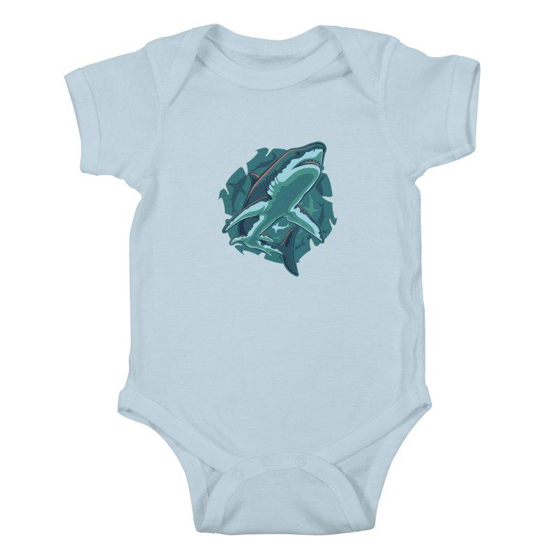 Top Predator Kids Baby Bodysuit by Stephen Hartman Illustration Shop