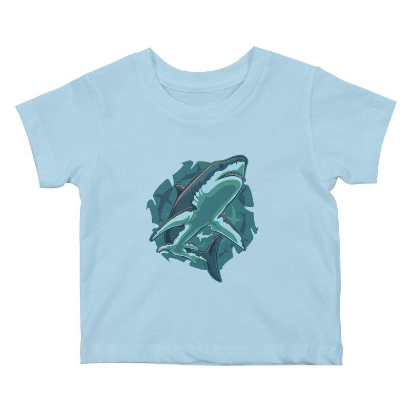 Top Predator Kids Baby T-Shirt by Stephen Hartman Illustration Shop