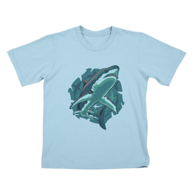 Top Predator Kids T-Shirt by Stephen Hartman Illustration Shop