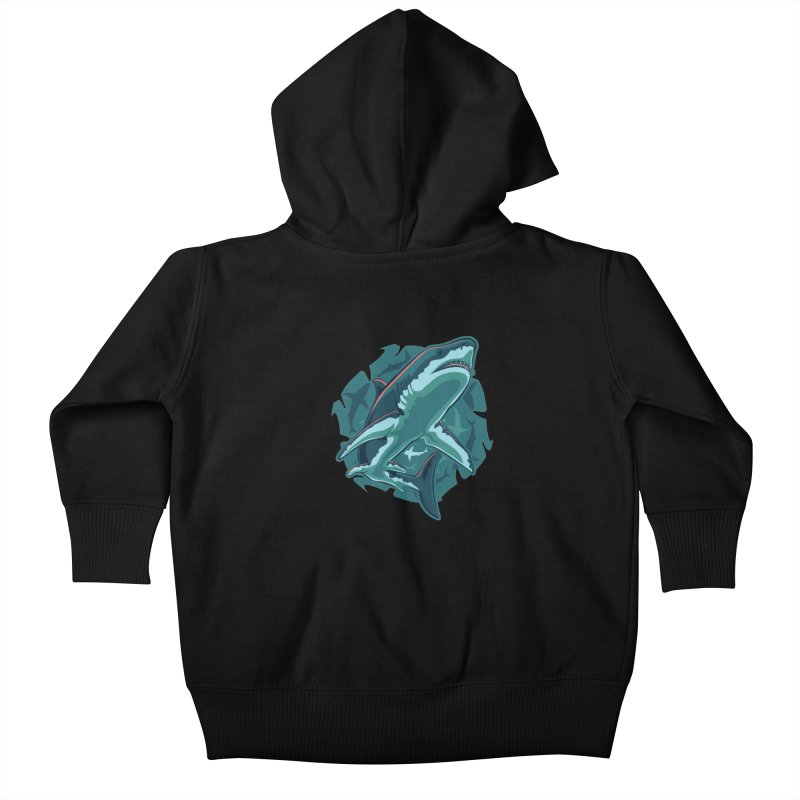 Top Predator Kids Baby Zip-Up Hoody by Stephen Hartman Illustration Shop