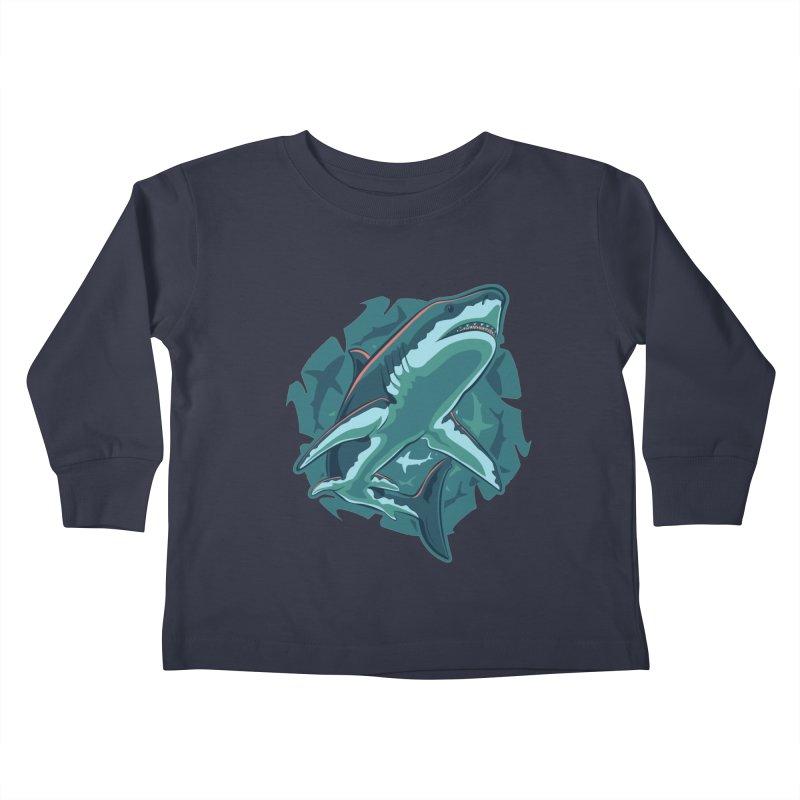 Top Predator Kids Toddler Longsleeve T-Shirt by Stephen Hartman Illustration Shop