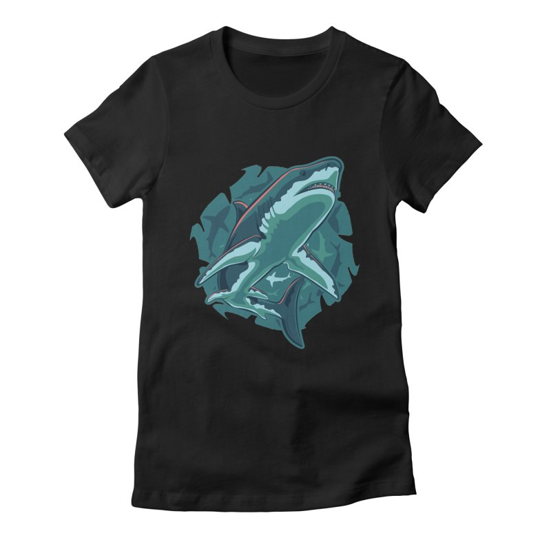 Top Predator Women's Fitted T-Shirt by Stephen Hartman Illustration Shop