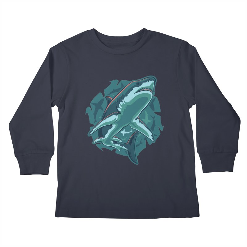 Top Predator Kids Longsleeve T-Shirt by Stephen Hartman Illustration Shop