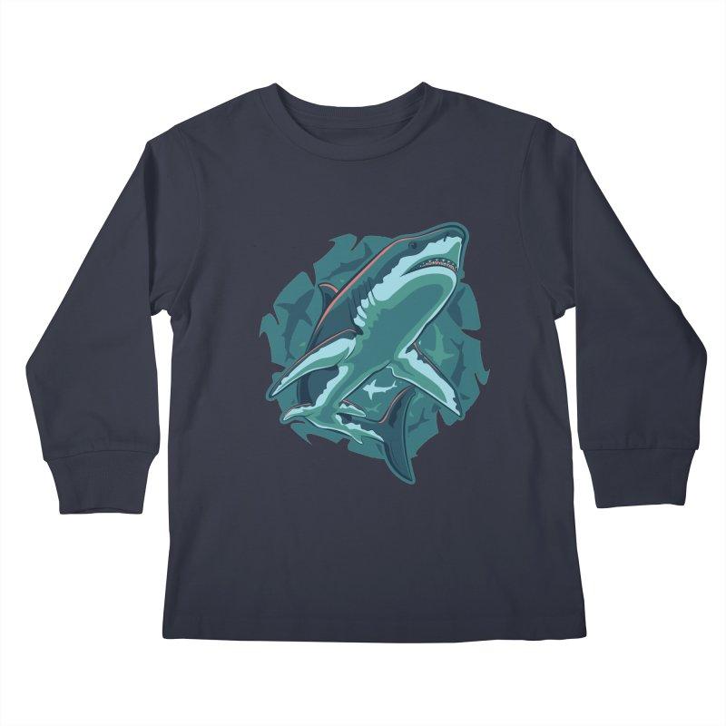 Top Predator Kids Longsleeve T-Shirt by Stephen Hartman Illustration Shop