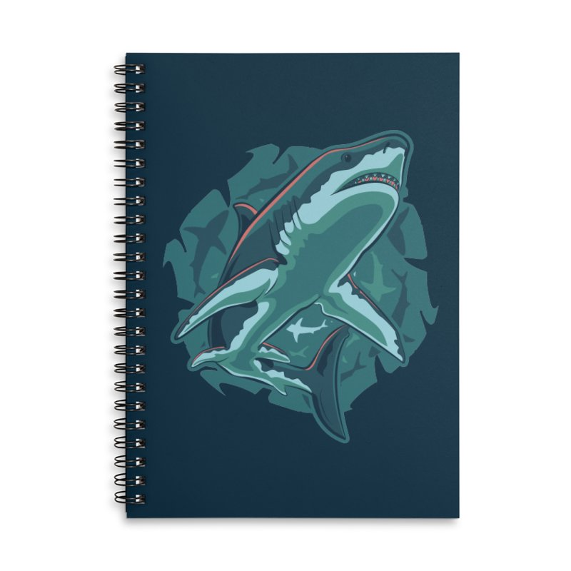 Top Predator Accessories Lined Spiral Notebook by Stephen Hartman Illustration Shop