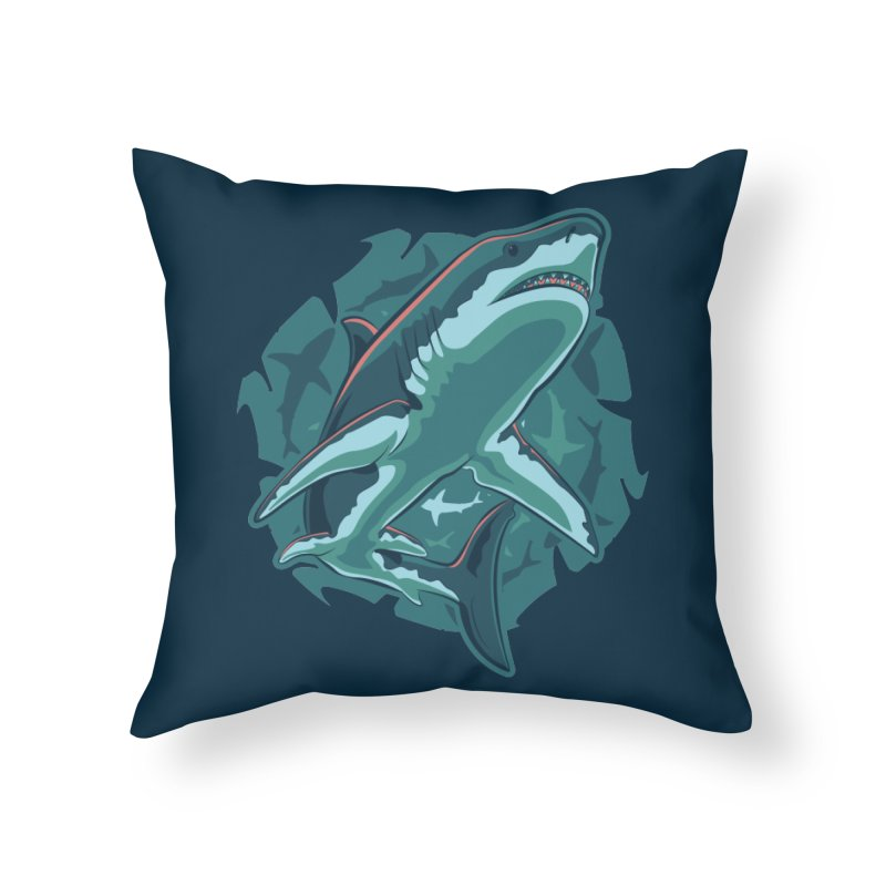 Top Predator Home Throw Pillow by Stephen Hartman Illustration Shop