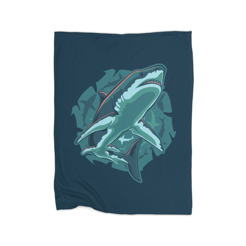 Top Predator Home Fleece Blanket Blanket by Stephen Hartman Illustration Shop
